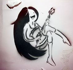 Marceline Stencil by ~Prozacreature on deviantART re-pinned from captain hess