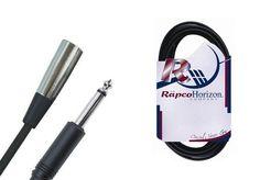 "Rapco 20' Unbalanced Male XLR to 1/4"" Cable"