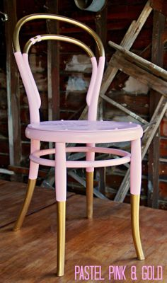 Vintage Dip Dyed Bentwood Chair
