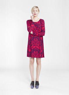 MARIMEKKO KEINUVA DRESS Purple Color Combinations, Tent Dress, Fashion Catalogue, Marimekko, Sweater Weather, Preppy, High Neck Dress, Boho, Winter
