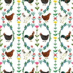 phoebewahl:  New and improved chicken pattern Phoebe Wahl 2013