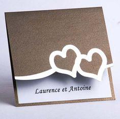 faire part mariage coeur chic tendance pas cher originale JM127  www.joyeuxmariage.fr