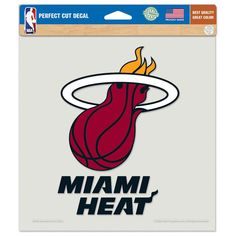 "Miami Heat Die-cut Decal - 8""x8"" Color"