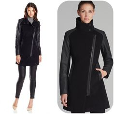 Moto Wool Coat Marc New York by Andrew Marc. It's perfect for winter to keep you nice and warm. New, Never been worn and still has its tag. Feel free to ask me any questions. The picture above is for modeling purposes. ‼️ Size 6. no trades  Andrew Marc Jackets & Coats
