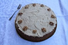 Torta al caffè e noci - walnut and coffee layer cake