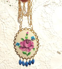 Violet Was Her Name  Vintage Flower Necklace by NestingPretty, $32.00
