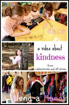 Sharing Kindness and Peace from Rubber Boots and Elf Shoes