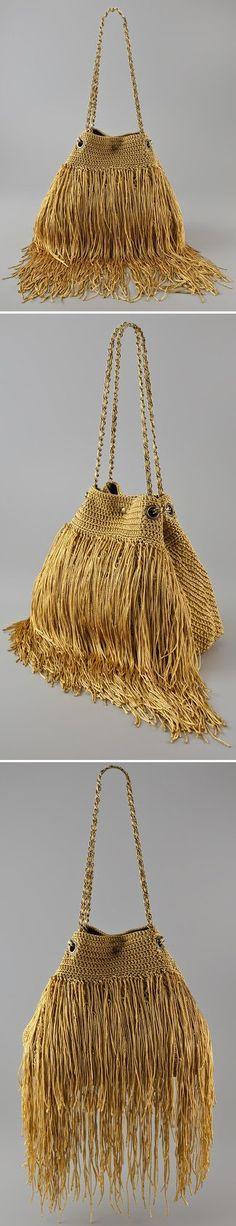 Fringed Crochet Handbag - *Inspiration*