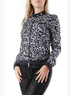 Куртка черная в принт - Husky - 2758177