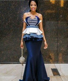 shweshwe dresses trends of 2019 - Reny styles Traditional Dresses Designs, African Traditional Wedding Dress, Traditional Wedding Attire, Traditional Outfits, Traditional Weddings, African Print Dresses, African Fashion Dresses, African Dress, African Prints