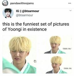 How a person look hot and stupid at the same time? *sigh* only Yoongi will know.*dramatically looks off in the distance* Min Yoongi Bts, Min Suga, Bts Boys, Bts Bangtan Boy, Bts Pictures, Photos, Min Yoonji, Bts Memes Hilarious, Bts Tweet