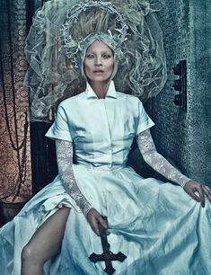 Good Kate, Bad Kate – After taking a look at the striking covers, we share the main editorial from W Magazine's March edition starring supermodel Kate Moss as an deity-like beauty. Photographer Steven Klein and fashion director Edward Enninful team up for a darker look at the spring collections featuring pieces from labels such as Balenciaga, Jil Sander, The Row and Louis Vuitton. With the help of makeup artist Val Garland (Streeters) and hair stylist Paul Hanlon, Kate proves she&...