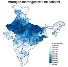 While this one tells us the percentage of arranged marriages which are conducted without consent, broken down per state. 13 Fascinating Maps That'll Change The Way You See India India Map, India World Map, Ancient Indian History, India Facts, Interactive Map, Cartography, Me On A Map, Old Pictures, Indian