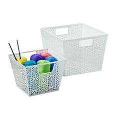 Container Store ~ Brocade Storage Bins! So cute!