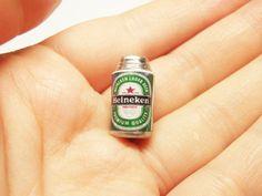 1 pc heineken beer soda beverage can miniature by rabbitssupplies, €0.80