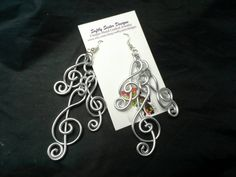 Silver Colored Wire Earrings Wire Wrapped by SoftlySisterDesigns
