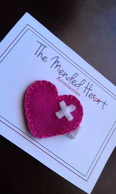 Mended Heart Felt Clip., via Etsy.