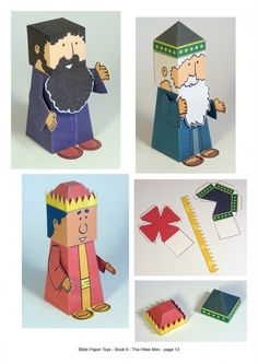 Bible paper toys book