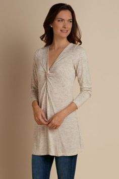 Kate Tunic - Tweedy Tunic, Knit Tunic | Soft Surroundings