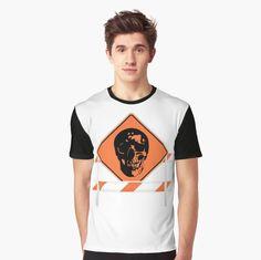 Rock N Roll Skull #construction #rocknroll #skull #orange #redbubble #markmla Rock N Roll, Tank Man, Skull, Construction, Orange, Mens Tops, T Shirt, Collection, Fashion