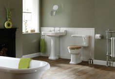 Traditional Bathrooms - Deals On Bespoke Bathroom Traditional Bathroom Inspiration, Edwardian Bathroom, Cloakroom Suites, Bathroom Plans, Bad Inspiration, Upstairs Bathrooms, Bespoke, Toilet, Traditional Bathroom