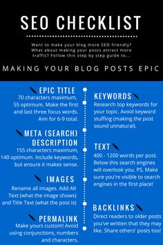 Free Printable SEO and Blog Post Checklist Infographic for Bloggers | Autumn Leaves, building blogs into brands.