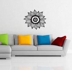 WALL VINYL STICKER DECAL ART MURALS DESIGN INTERIOR Flower Lotus Patterns SV2350