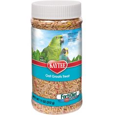 FortiDiet ProHealth Oat Groats Treat  - 11 oz.    Forti-diet ProHealth Oat Groats are recommended by bird breeders nationwide. Groats are the nourishing hearts of oats, enriched with Omega 3's for brain, heart and eye health. Oat Groats can help add weight to underweight birds, and are beneficial during stressful periods. Also enriched with …