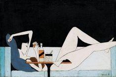 "ROSE on Twitter: ""Girl on the Couch (1930s) by Pang Xunquin… "" Art Mignon, Art Japonais, Wow Art, Illustrations And Posters, Art Design, Asian Art, Japanese Art, Cute Art, Art Inspo"