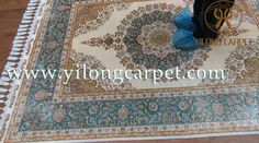 The handmade silk rug with the best quality gives confidence to us and our customers. www.yilongcarpet.com alice@yilongcarpet.com WhatsApp: +86 15638927921