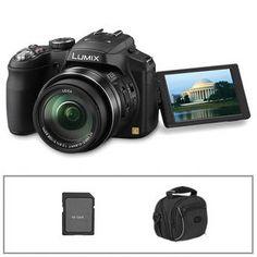 Panasonic   Lumix FZ200 Digital Camera with Basic Accessory Kit
