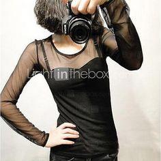 Women's Sexy Long Sleeve Regular Mesh) - USD $12.99