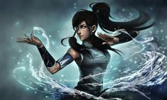 Legend of Korra! I've started watching it and it's... somewhat interesting. For now.