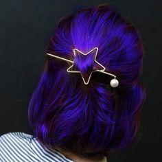 Colours of the Rainbow – Mercedes – Hair Clips Diy Hairstyles, Pretty Hairstyles, Hair Dye Colors, Hair Color, Indigo Hair, Hair Reference, Dream Hair, Crazy Hair, Purple Hair