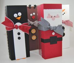 CHRISTMAS TAG A BAG GIFT BOXES by happystamper09