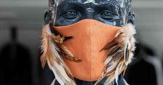Crefelder-Couture-Maske Magenta, Deadpool, Couture, Superhero, Character, Frock Coat, Protective Mask, Masks, Haute Couture