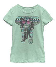 Another great find on #zulily! Fifth Sun Mint Elephant Shades Tee - Kids & Tween by Fifth Sun #zulilyfinds