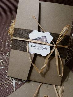 Rustic Barn Wedding Invitation DEPOSIT by designunfurls on Etsy, $100.00