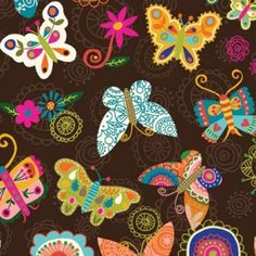 Butterfly print fabric