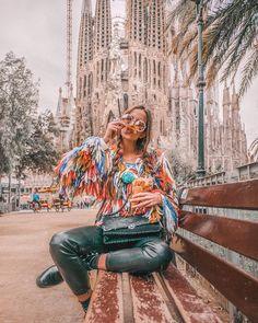 Barcelona travel, madrid to barcelona, travel pose, travel goals, barcelona Barcelona Spain Travel, Visit Barcelona, Barcelona Fashion, Travel Pictures, Travel Photos, Spain Honeymoon, Barcelona Pictures, Travel Style, Travel Goals