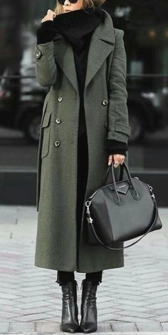 Women classic turn-down collar elegant trench long coat autumn and winter fashion street style! Plus size and fashion colorful design chic comfortable coats and jackets for women you can option. Shop now! Trench Coat Outfit, Winter Trench Coat, Camel Coat, Fall Coats, Green Winter Coat, Green Trench Coat, Khaki Coat, Long Trench Coat, Coat Dress
