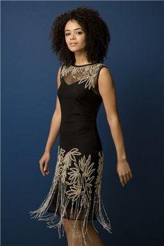 Bead Embellished Flapper Dress