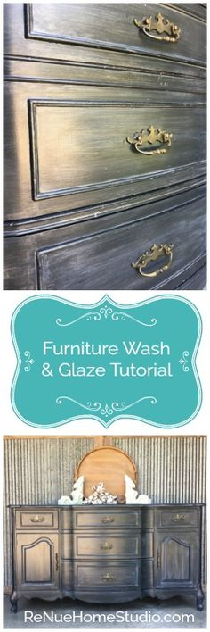 Learn how to apply Washes & Glazes to your Furniture Projects just like the Pros.   Wash, Glaze, Chalk Paint, Furniture, How To, Tutorial, Farmhouse, Amy Howard, Vintage, Repurpose, Metallic, White Wash