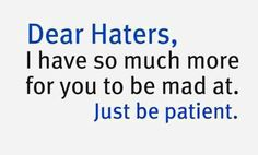 for all the whiners about my Facebook posts :)