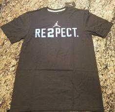 0b8356edbbd Nike Jordan Re2pect Derek Jeter Yankees Black T Shirt Size 3XL 708586 014  New
