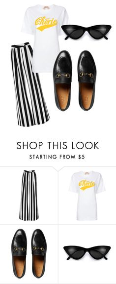 """""""yellow"""" by emma-thysell-1 on Polyvore featuring Michelle Mason, N°21 and Gucci"""