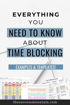 Goal Planning, Business Planning, Blog Planner Printable, Printables, Block Scheduling, Week Schedule, Time Management Tips, Time Management Printable, Productivity Quotes