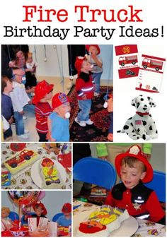 What young boy doesn't want to grow up and someday become a fireman? Which is why a fire truck birthday party is such a great idea! Here's how to throw an awesome firefighter party! 3 Year Old Birthday Party, Birthday Party Games For Kids, Boy Party Favors, Birthday Activities, Birthday Themes For Boys, Kids Party Themes, Birthday Party Decorations, Birthday Party Invitations, Party Ideas