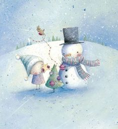 Lizzie Walkley - Girl And Snow Man