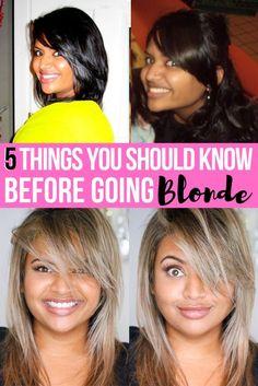 Things to Consider Before Going Blonde - XOXOKAYMO